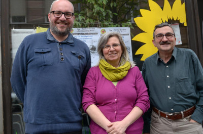 LAG-Sprecher*innen Team Verkehr Planen Bauen v. l. n. r.: Aljoscha Labeille, Birgit Raab, Werner Schmidt